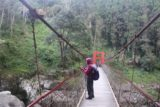 Shanlinhsi_319_10312016 - Mom enjoying the views on the suspension bridge over the Jiazouliao Stream en route to the Chinglong Waterfall