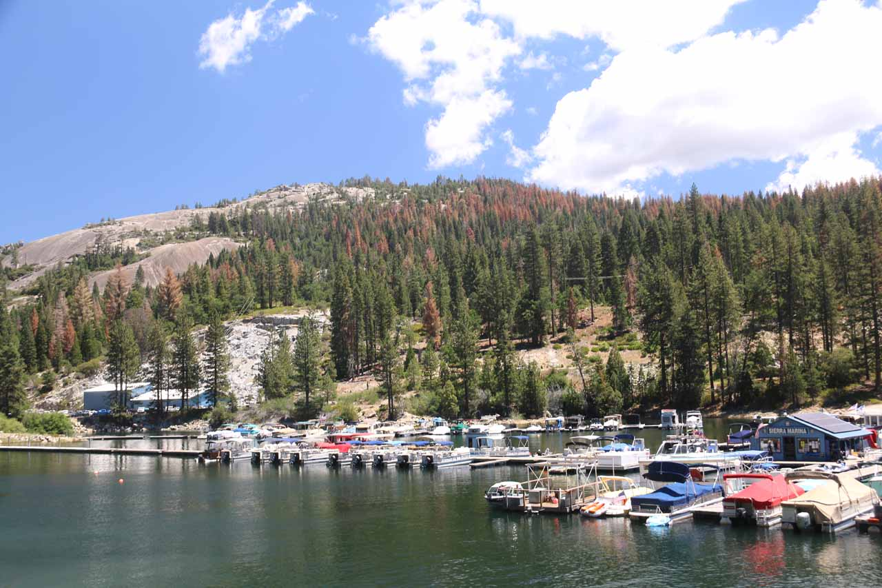 On the fairly long and twisty drive up from Fresno to Huntington Lake, we encountered Shaver Lake, which was also an attractive granite-fringed lake with some recreational activities, too