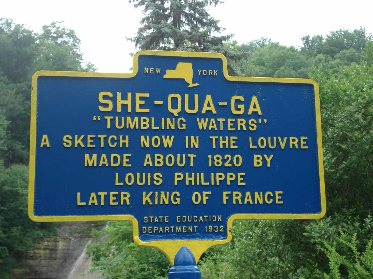 Sign indicating Louis Philippe came here