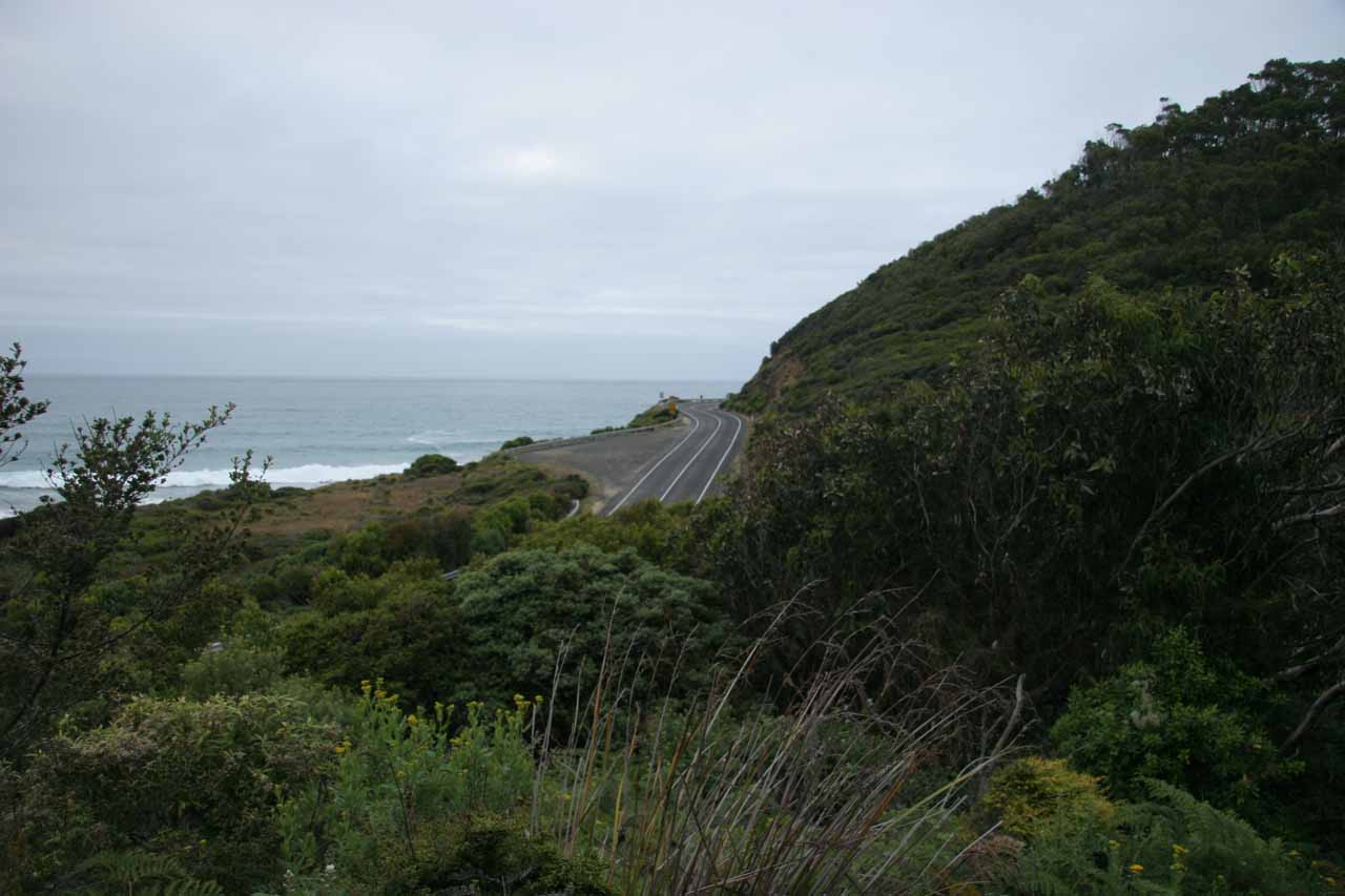 Looking back the other way towards the Great Ocean Road