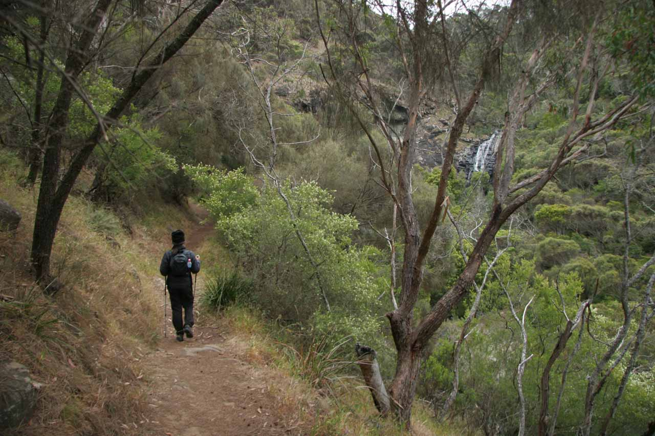 At this point, we started to see Sheoak Falls up ahead