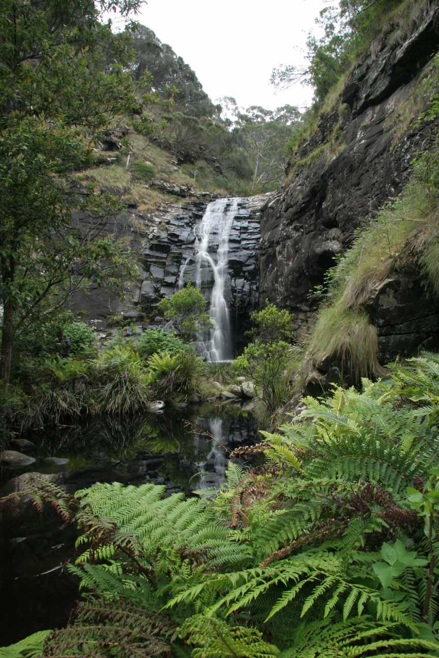 Similar view of Sheoak Falls amidst some surprising lush fern-fringed scenery in November 2006