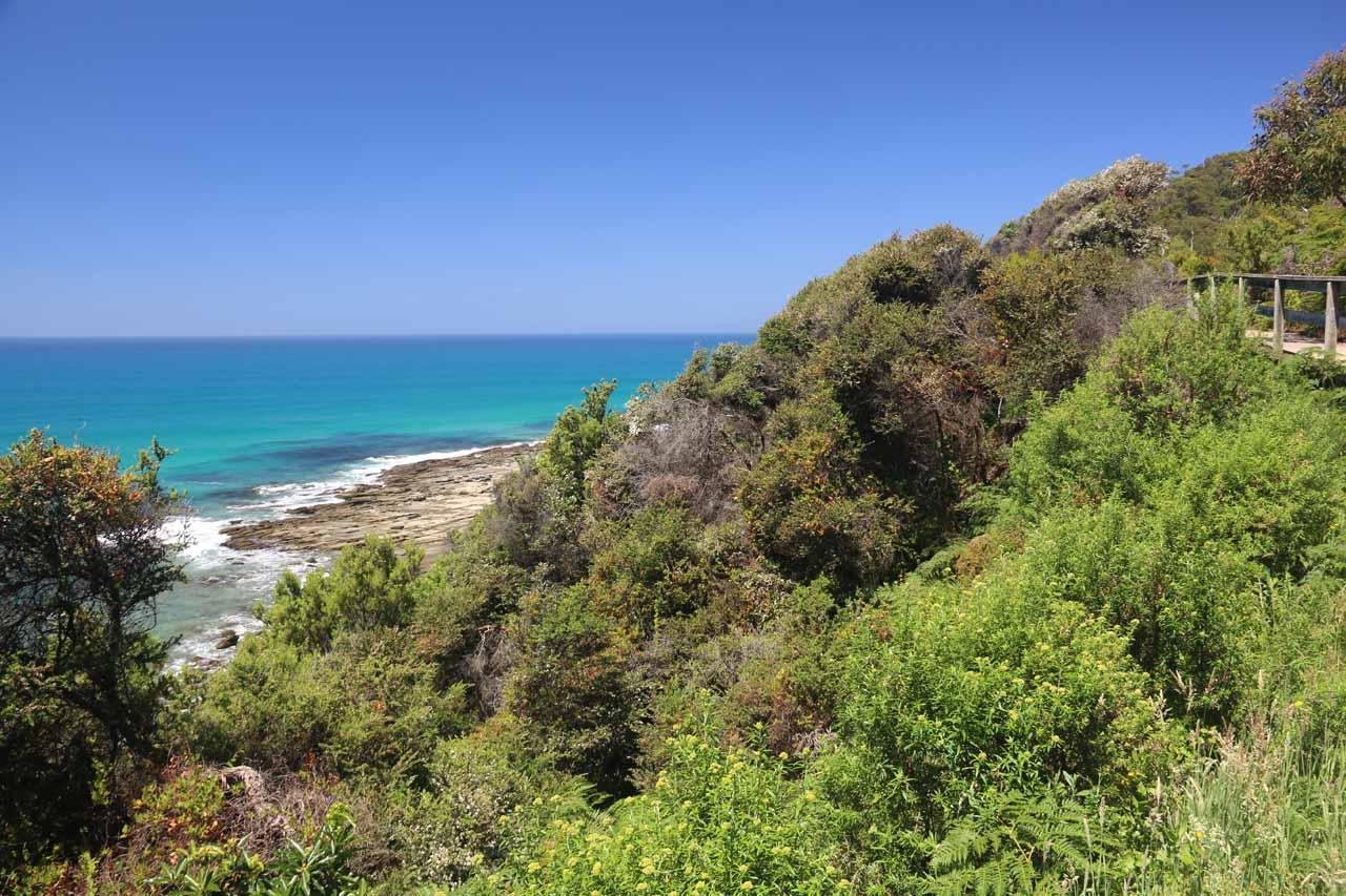 More coastal scenery on the return walk along the Sheoak Falls Track