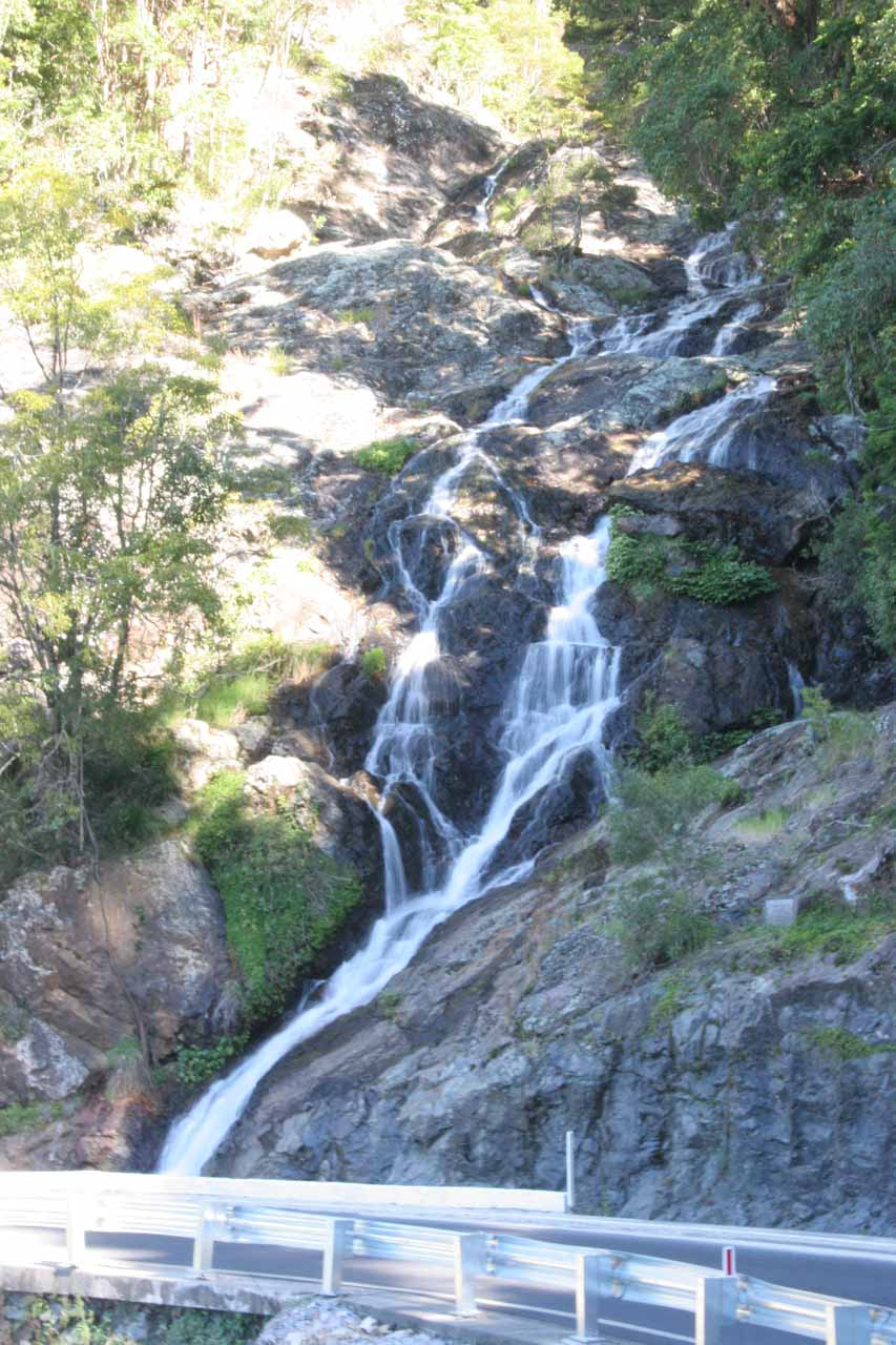 This was probably our best look at Sherrard Falls, which was taken from the road shoulder on the Waterfall Way