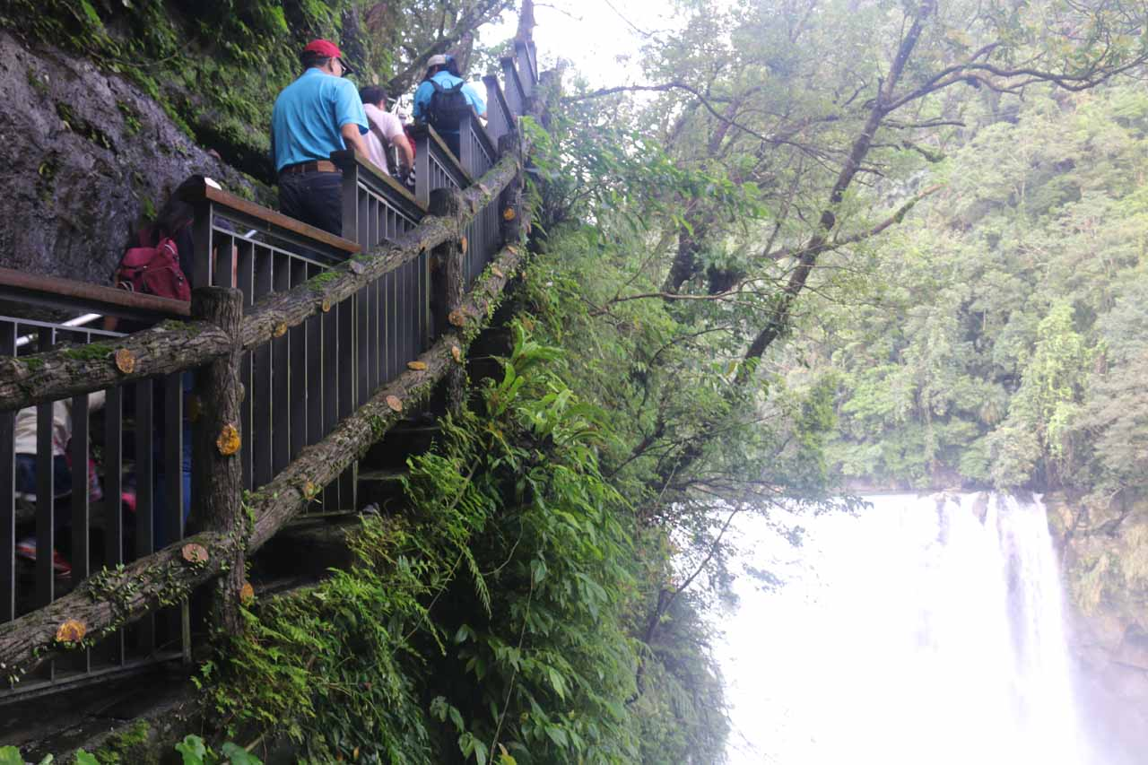 After getting our fill of the main lookouts for the Shifen Waterfall, we then had to walk back up to the paved walkway