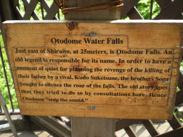 Shiraito_001_jx_05262009 - Sign explaining the Otodome Waterfall