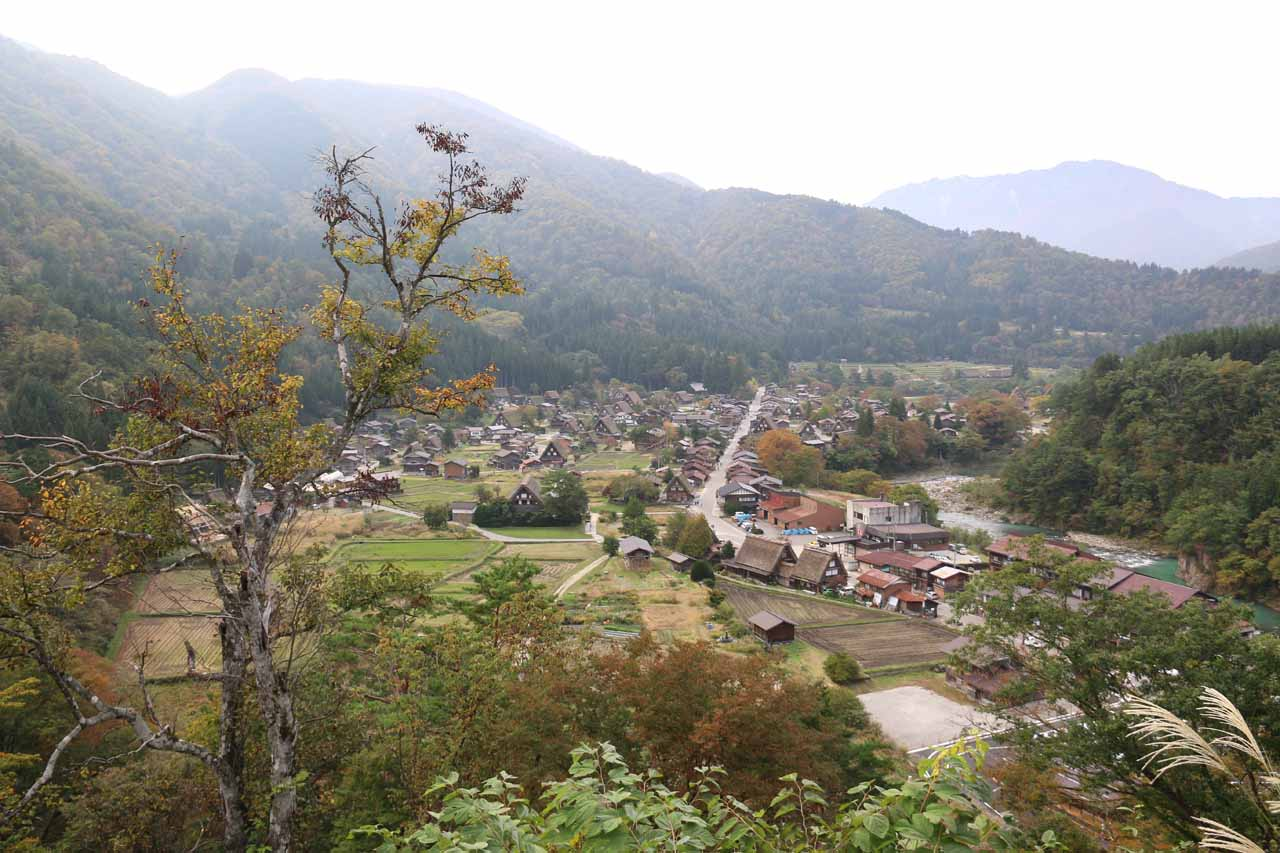 About an hour's drive to the northwest of Takayama was the traditional villages of the Shirakawago. Shown here was an overlook of the village of Ogimachi
