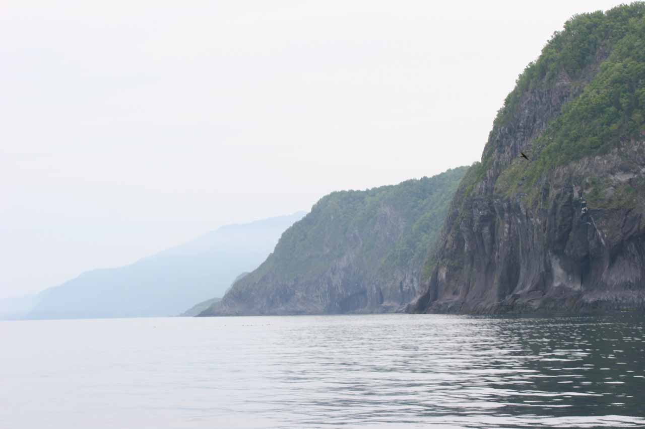 View along the Shiretoko coastline as we embarked on our boat tour