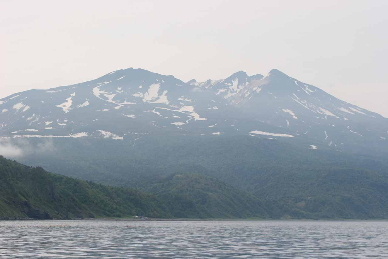 Volcanic peaks rising above the sea
