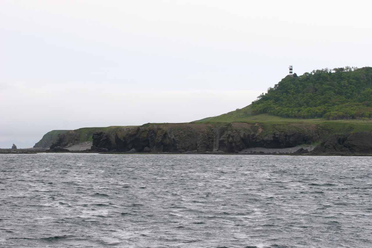 Distant look at some lighthouses near the Cape of Shiretoko