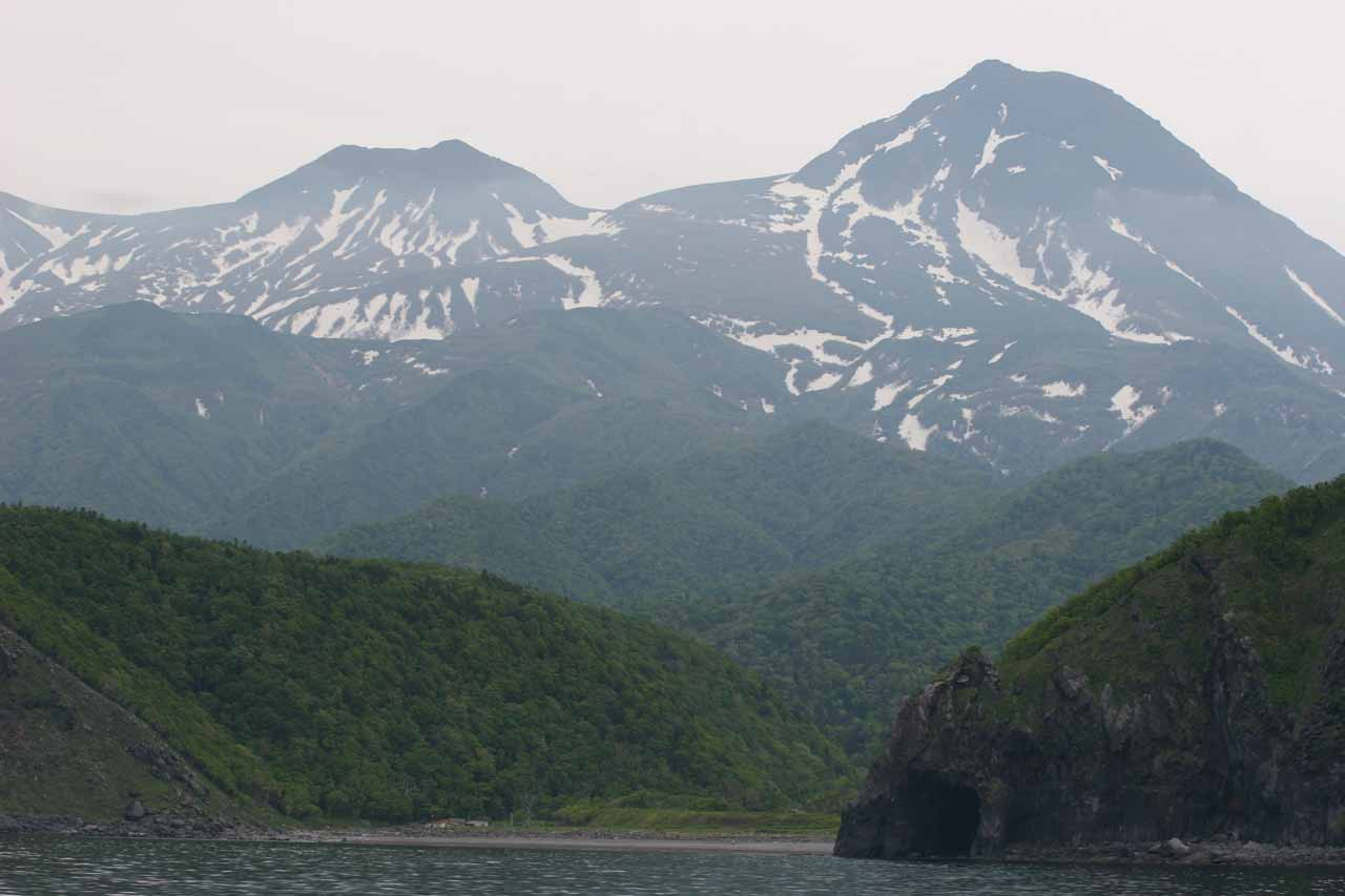 In addition to the wildlife of Shiretoko, the mountains rising up out of the Sea of Okhotsk were also very beautiful