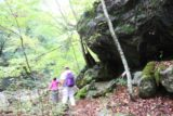 Shoji_Falls_058_10172016 - The further we went beyond the third intermediate waterfall on the Ishiutoro River, the trail became a little less defined as it started flanking and weaving between giant rocks like this one