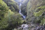 Shoji_Falls_083_10172016 - Broad look at the Shoji Waterfall surrounded by trees and fronted by lots of boulders