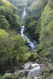 Shoji_Falls_100_10172016 - Another contextual look at the Shoji Falls revealing the boulders strewn about in the Ishiutoro River underscoring the rockfall danger of the steep terrain here