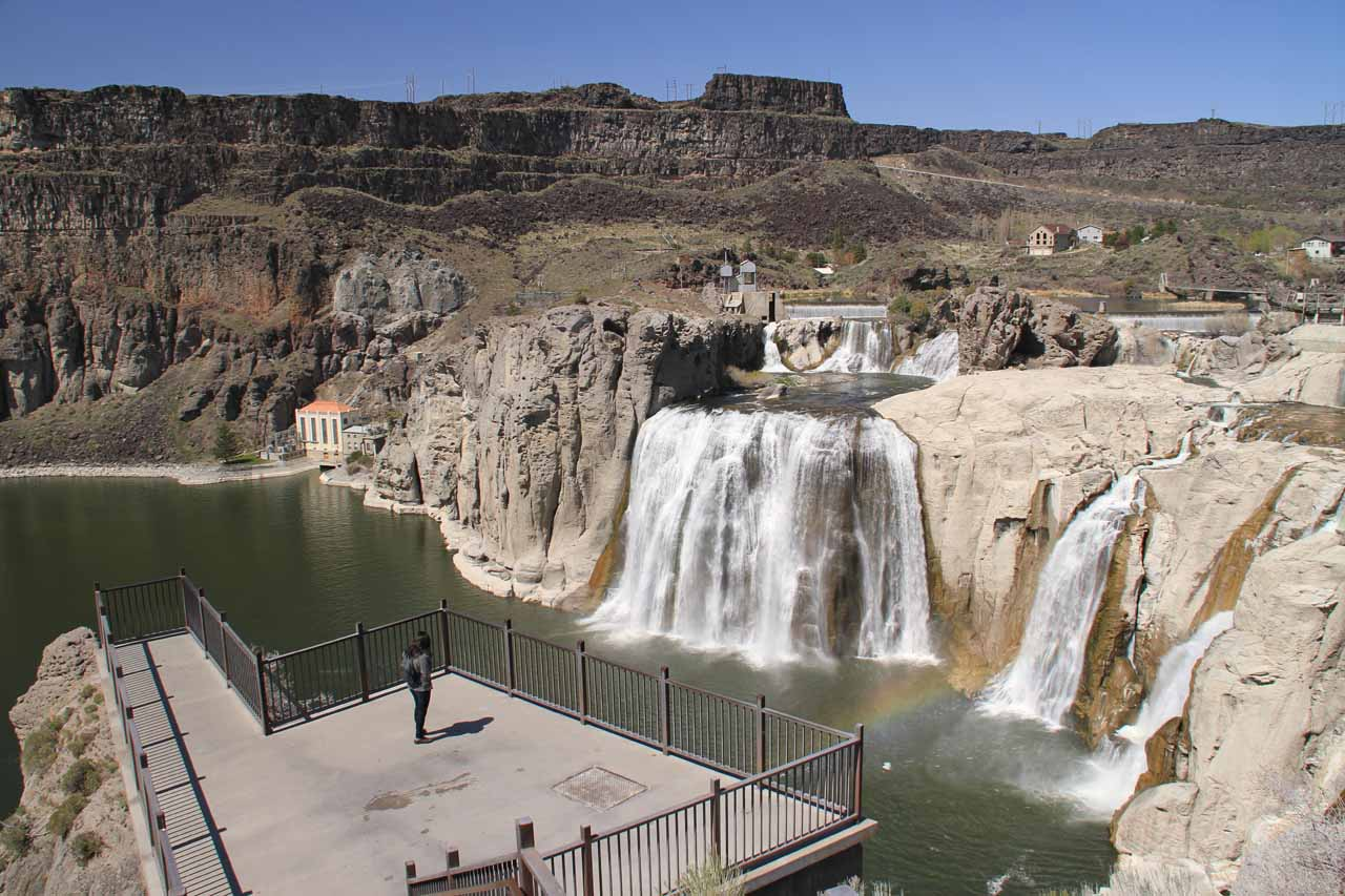 Julie checking out Shoshone Falls from the main viewpoint