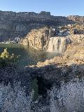 Shoshone_Falls_004_iPhone_04012021 - Looking over the familiar natural arch fronting Shoshone Falls during our early April 2021 visit