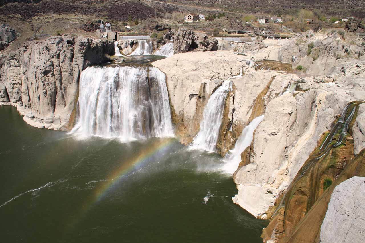 Closer look at Shoshone Falls from just above the main viewing area