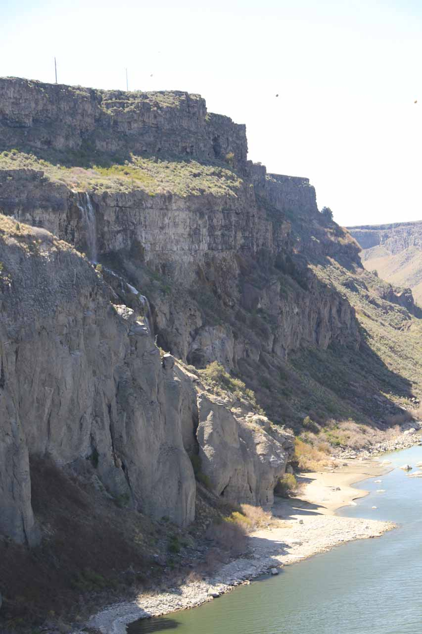 Partial look at a cascade further downstream of Shoshone Falls that I believe might be sourced by Dierkes Lake