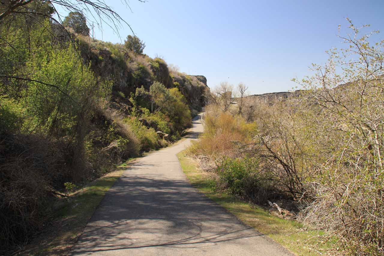 The paved walkway that I guess was also called the Centennial Trail