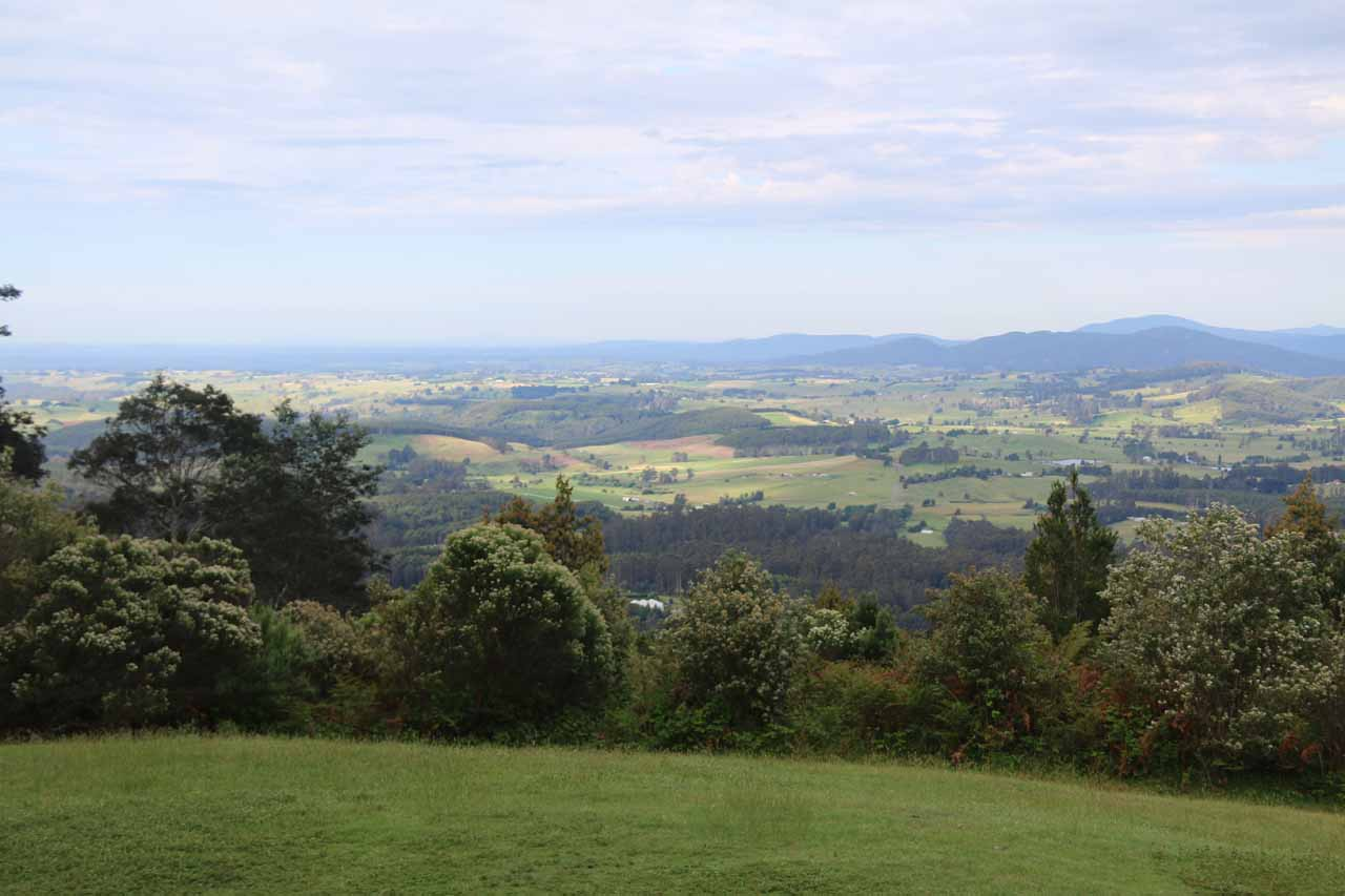 On our most recent visit to Ralphs Falls, we stopped by the Sideling Lookout, which provided an expansive panorama looking across the Bass Strait towards Gippsland in addition to Tassie's northeast