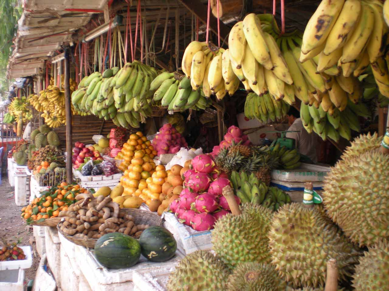 Fruit stand in Siem Reap