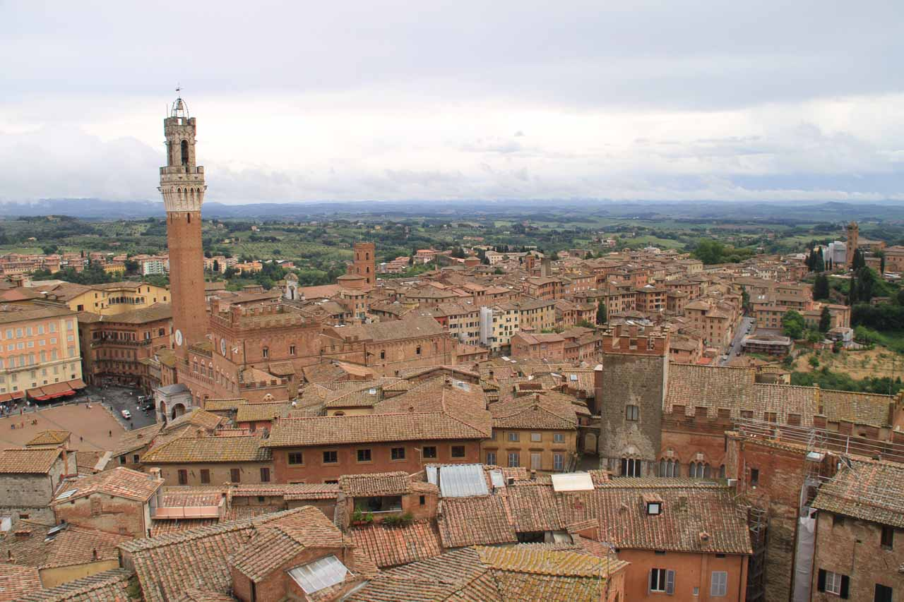 Our first look at the grand view from atop the Duomo in Siena