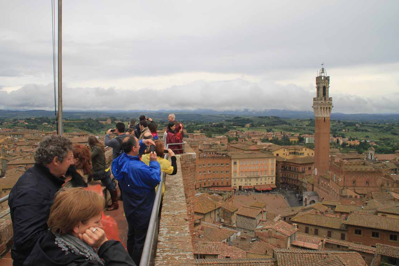 Not a lot of real-estate as we were getting panoramas of Siena from atop the Duomo