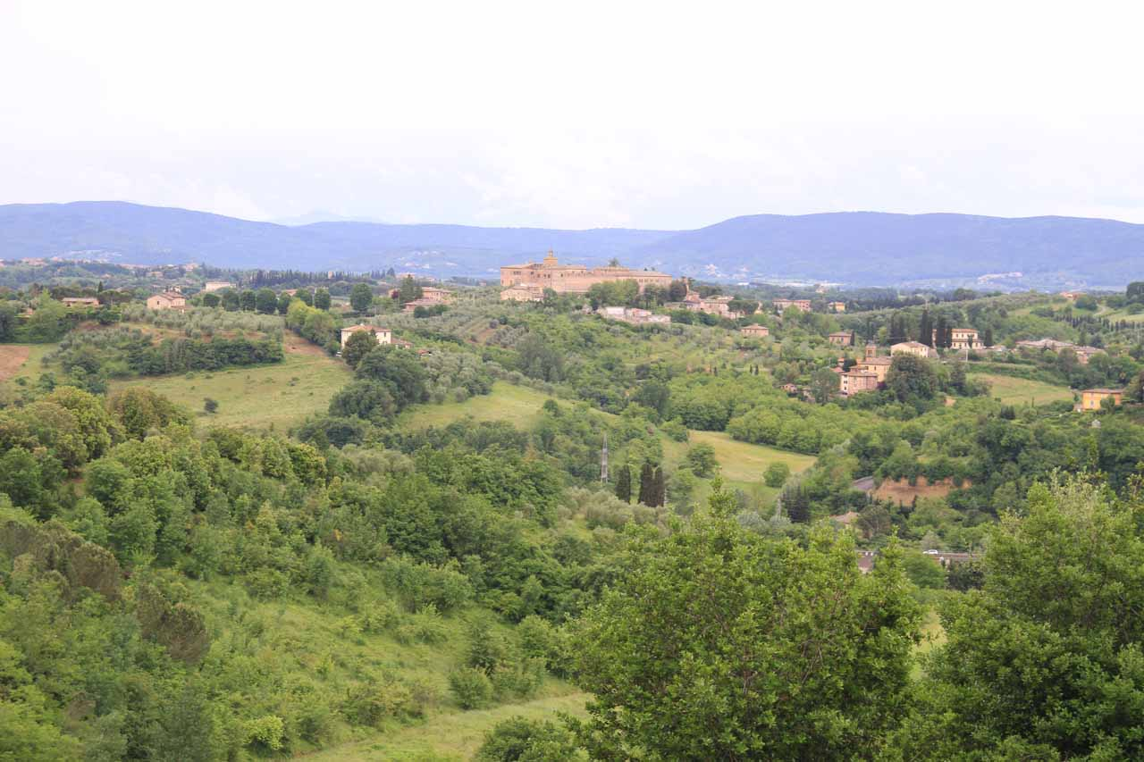 Last look at the hillsides surrounding Siena from near the Porta di San Marco