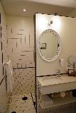 Siglufjordur_259_08142021 - The fancy bathroom within the Siglo Hotel