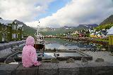 Siglufjordur_295_08142021 - Tahia enjoying the scenery of a peaceful morning in Siglufjordur