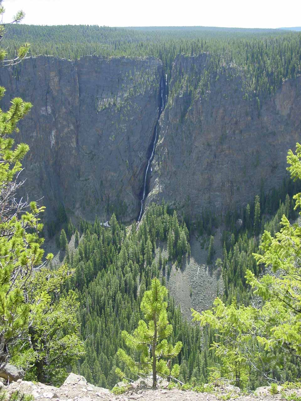 Looking across the Seven-Mile Hole at the Silver Cord Cascade