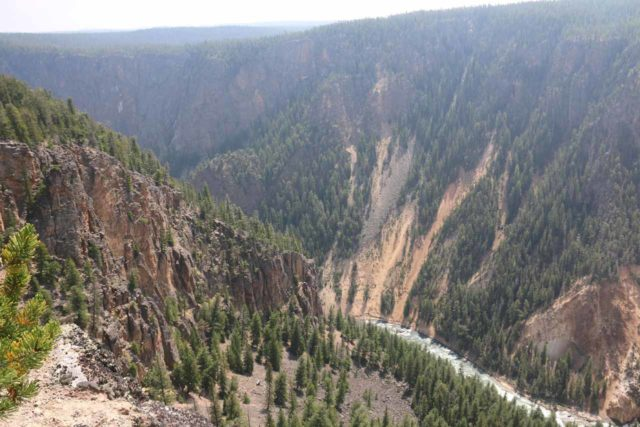 Silver_Cord_Cascade_17_024_08102017 - Looking into the Grand Canyon of the Yellowstone River during the Silver Cord Cascade hike. The Seven-Mile Hole Trail actually would access the base of this deep canyon well downstream of here