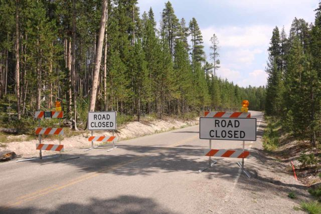 Silver_Cord_Cascade_17_082_08102017 - My hike to the Silver Cord Cascade was a bit longer thanks to this road closure during my August 2017 visit