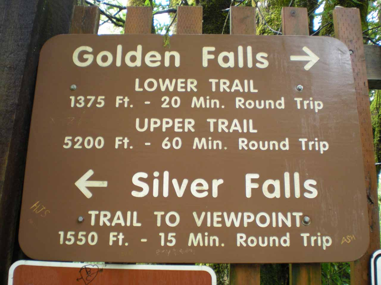Sign at the trailhead