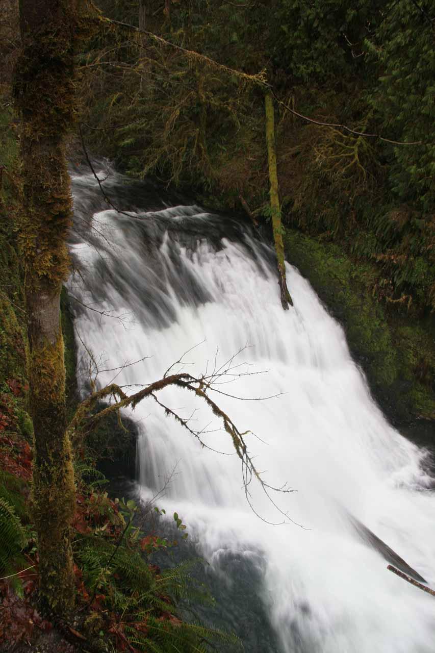 Looking right down at Drake Falls
