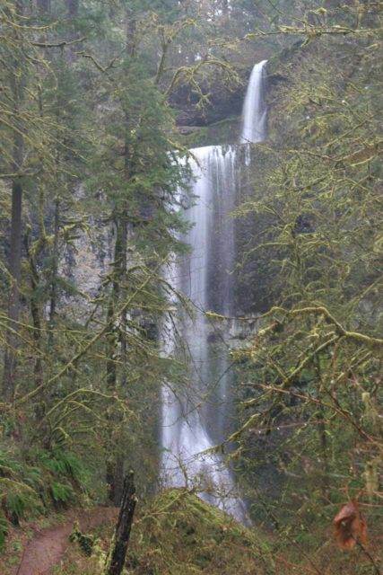 Silver_Falls_187_03312009 - Double Falls in Silver Falls State Park