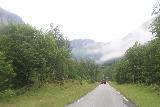 Simadalen_028_06252019 - Driving the narrow road towards the head of Simadalen and Skykkjedalsfossen