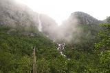Simadalen_038_06252019 - These same clouds ended up shrouding Skykkjedalsfossen.  Pictured here was when they were just starting to obscure the waterfall!