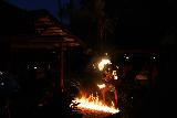 Sinalei_Reef_Resort_064_11122019 - A local girl doing the fire dancing in a very badass way at the Samoan culture night at the Sinalei Reef Resort