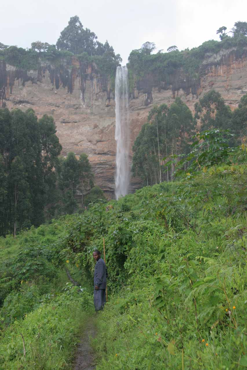 Almost at the base of the main Sipi Falls