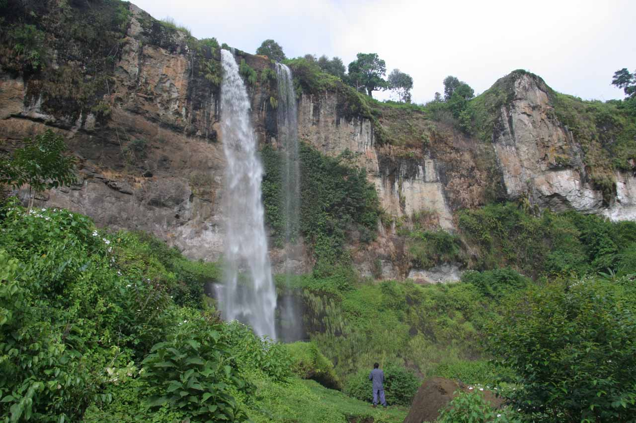 Approaching the third Sipi Falls