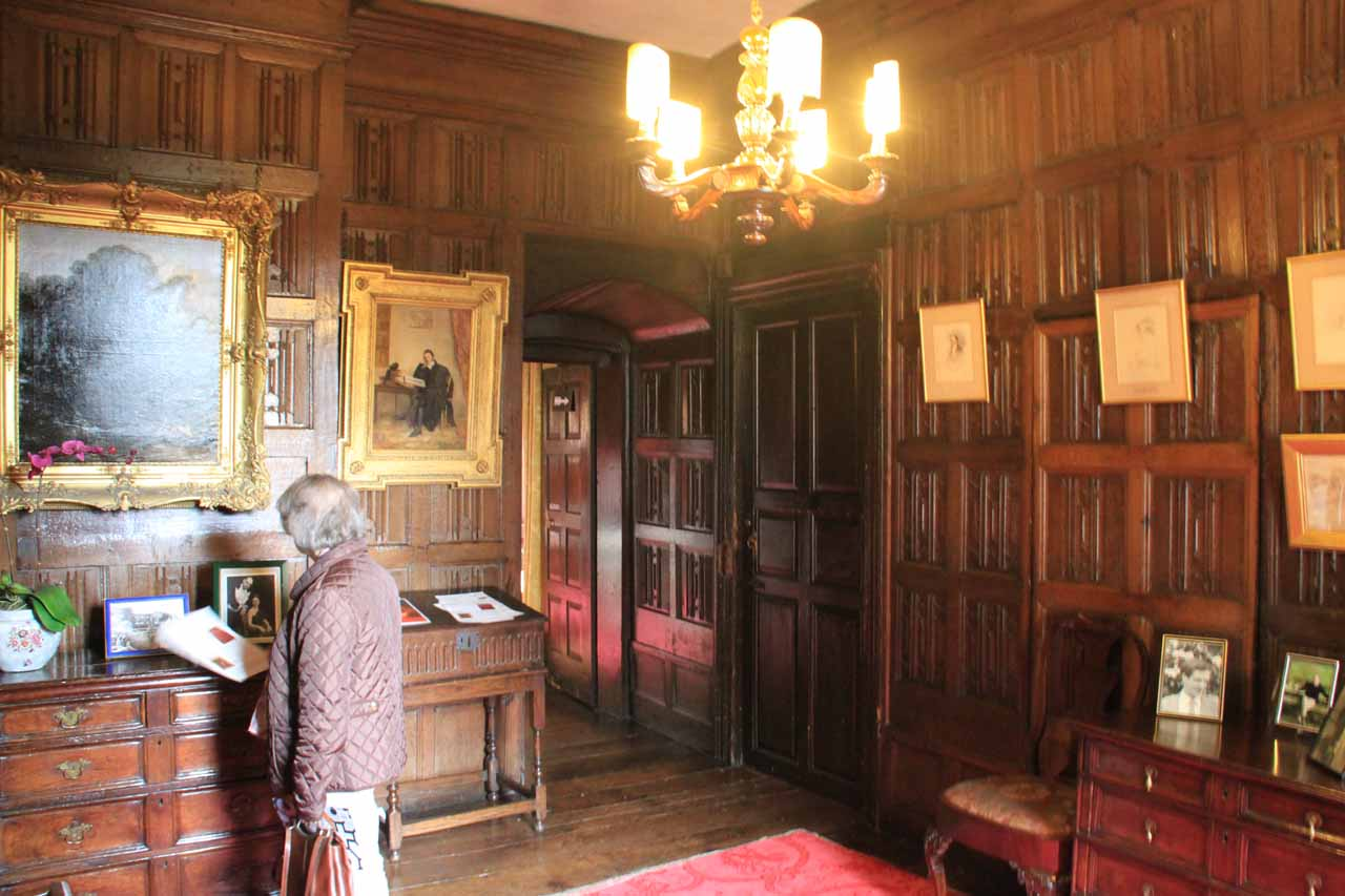 The interior of the Sizergh Castle