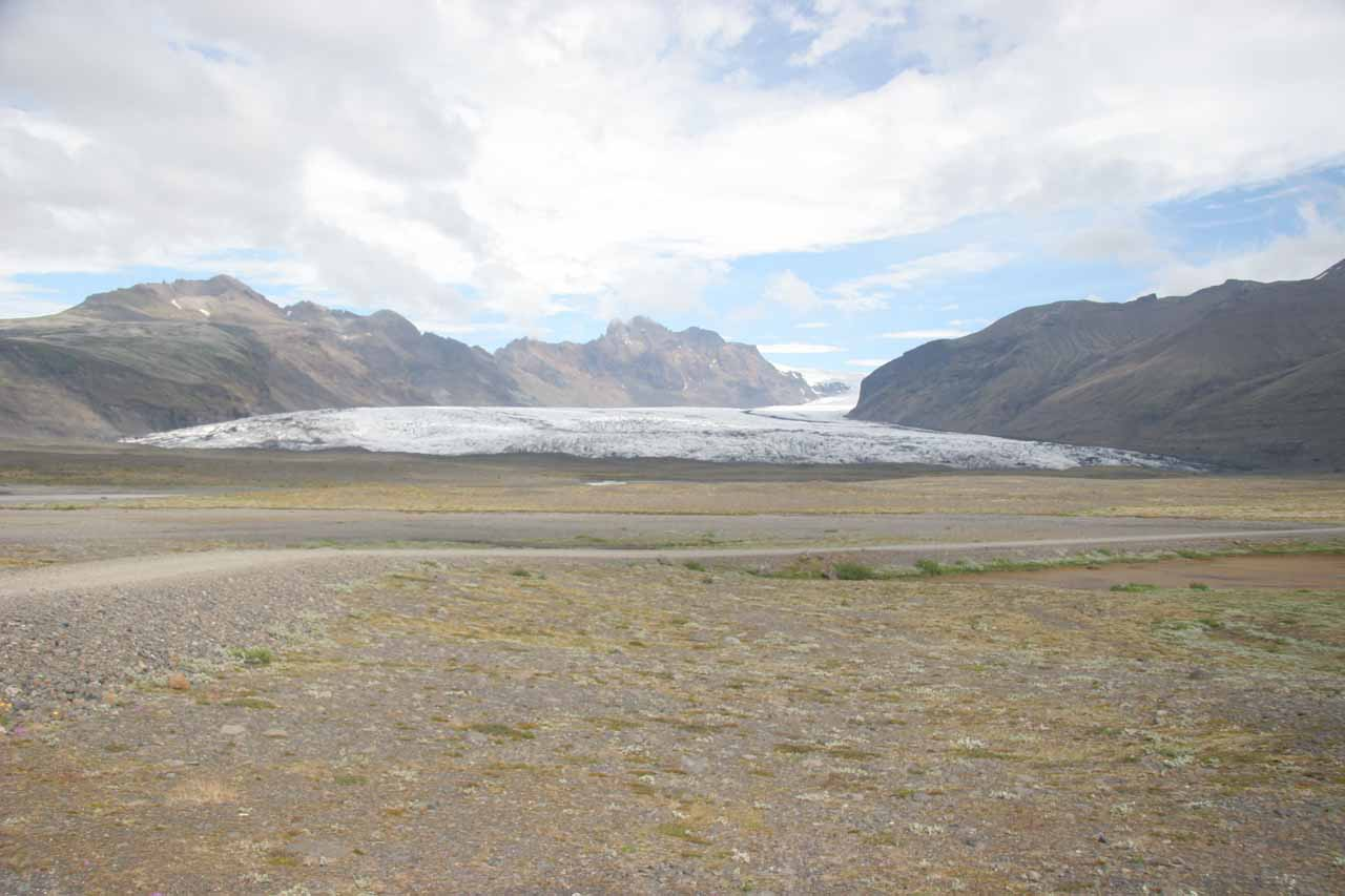 We could already see Skaftafellsjökull in the distance from near the Visitor Center