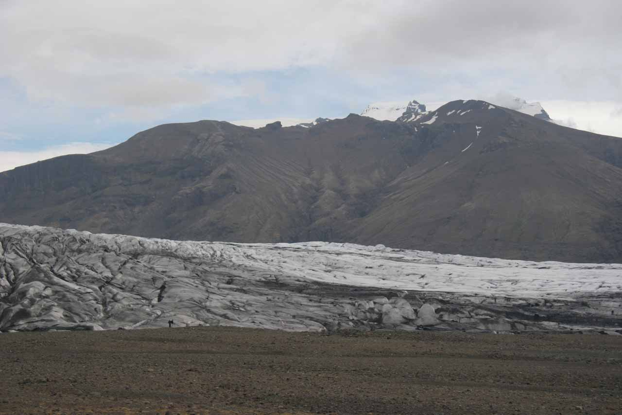 This was as close to Skaftafellsjökull as we got since we didn't want to unknowingly step onto black ice which looked very much like the dirt we were standing on