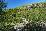 Skaftafell_NP_147_08082021 - Looking across a footbridge spanning the Storilaekur Stream