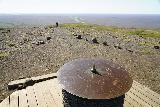 Skaftafell_NP_215_08082021 - Looking back across the compass-like pillar at Sjonarsker with Mom approaching
