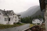 Skjolden_001_07202019 - Looking out from the Skjolden Hotel towards mountains and other buildings