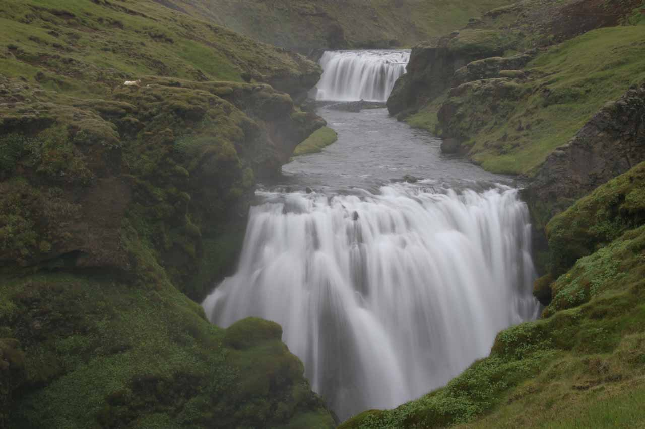 When I got in front of the forth waterfall, the upper tier of this falls was revealed