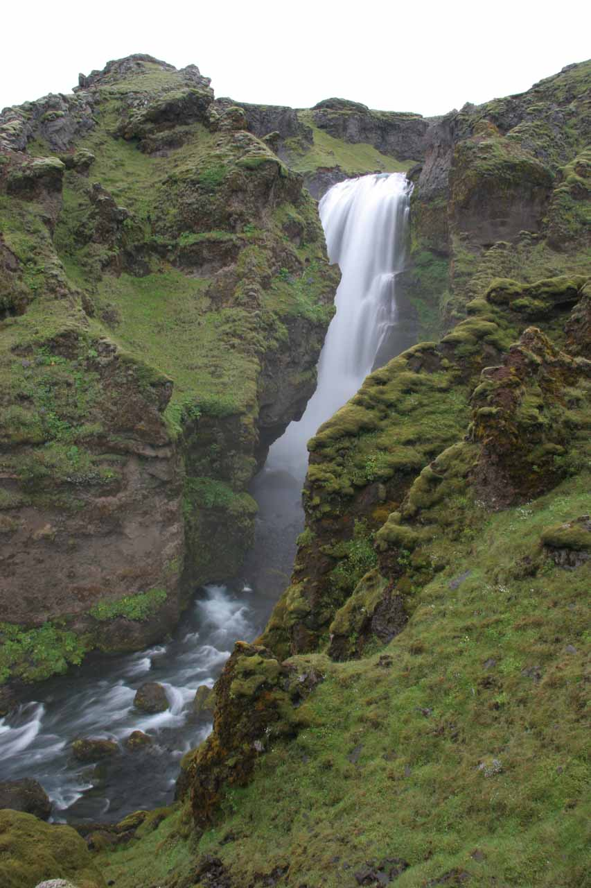 This is what I think is Foss #7.  It was the first of the larger waterfalls I encountered on the hike