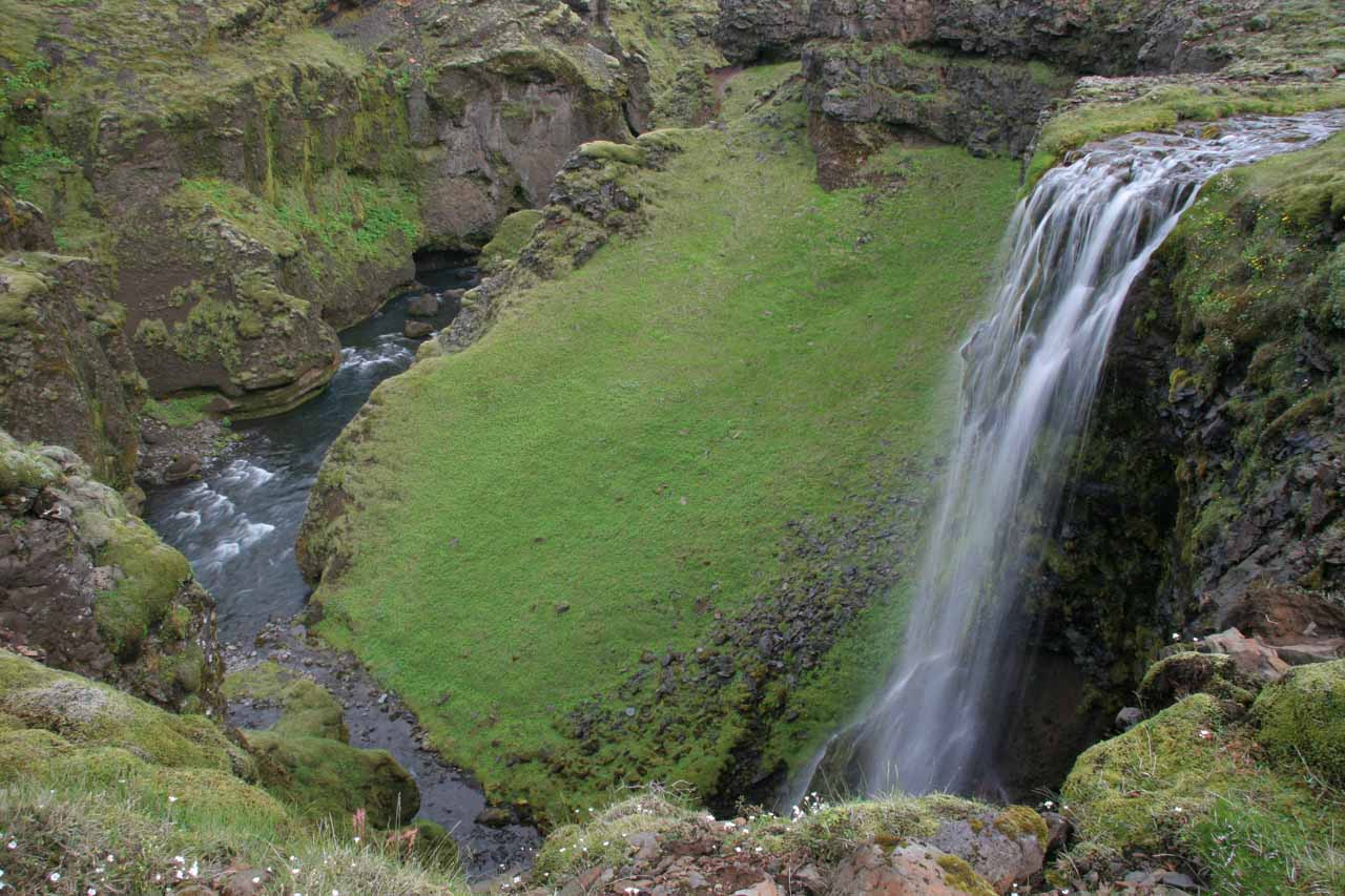 This attractive but light-flowing waterfall was on a tributary of the Skoga River and I dubbed it Foss #10